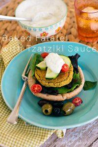 Baked Falafel with Tzatziki Sauce Recipe