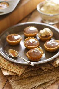 Chocolate Bourbon Caramel Mini Pumpkin Pies Recipe