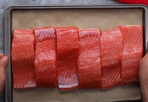 Glazed Salmon Over Asian Butternut Squash Salad recipe