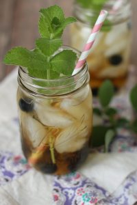 Delicious blueberry white tea water for summer