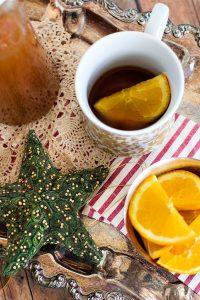 Bourbon Spiked Russian Tea