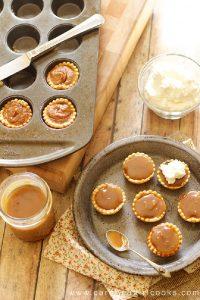 Chocolate Bourbon Caramel Mini Pumpkin Pies
