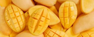 a bunch of mango in the image