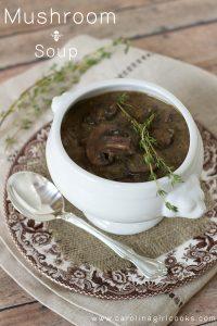 Mushroom Soup placed on table