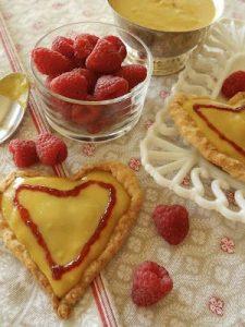 Pear Curd Tarts With Raspberry Glaze