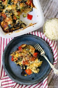 Rosemary Roasted Vegetable Savory Bread Pudding