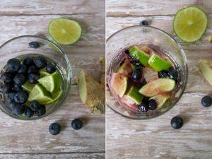 How to make Blueberry-Ginger Caipirinhas