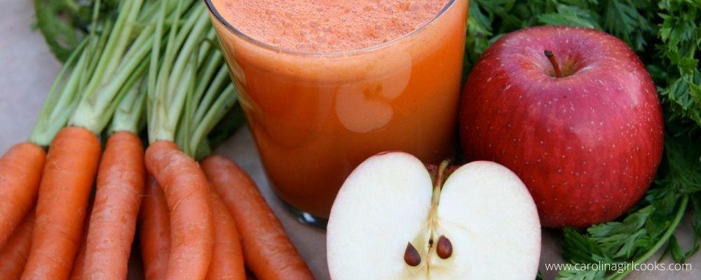Carrot apple fresh juice