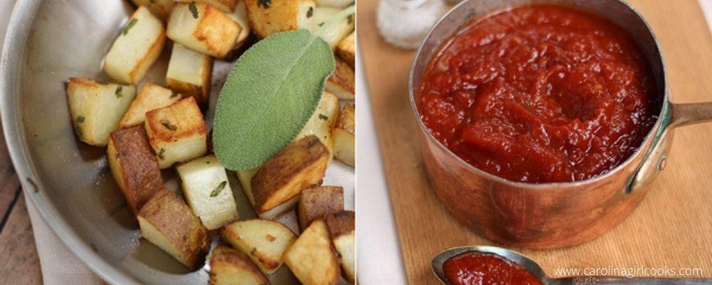Homemade Ketchup and Crispy Sage Potatoes