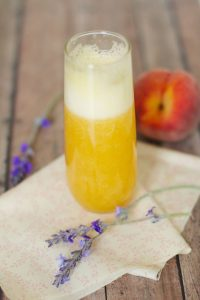How to make Lavender Peach Bellinis