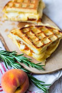 How to make Southern Sundays: Peach and Gouda Grilled Cheese on Rosemary Waffles