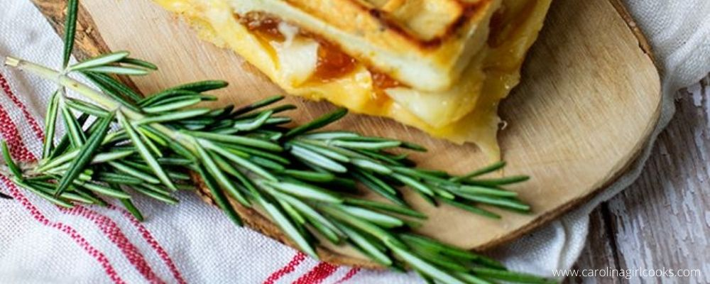 Southern Sundays: Peach and Gouda Grilled Cheese on Rosemary Waffles
