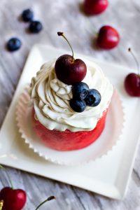 a nice watermelon cupcakes