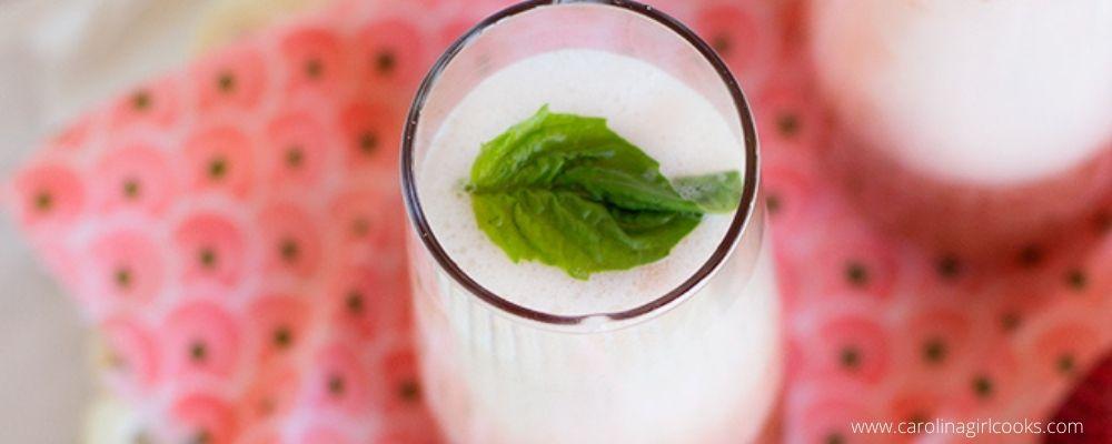 Strawberry Basil Bellini