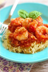 how to make spaghetti squash with shrimp marinara