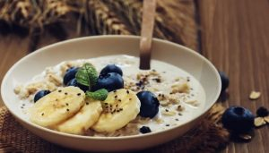 Healthy and delicious oats breakfast